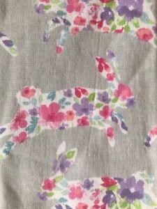 Deborah Connolly Set of 2 Absorbent Kitchen TOWELS Floral Rabbit Easter Bunny
