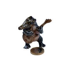 Miniature Ceramic Crocodile Guitar Player Ornament