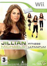JILLIAN MICHAELS FITNESS ULTIMATUM 2009 Nintendo WII Game Flat Abs Fat Workout