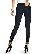 GUESS by Marciano Skinny Jeans Embroidered Ankle Zip Stretch Size 26 S 4