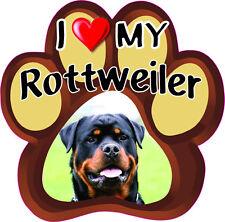 I LOVE MY ROTTWEILER CUTE DOG Bumper Sticker PAW #182