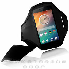 BLACK SPORTS ARMBAND POUCH CASE FOR OPPO FIND 5 GYM RUNNING JOGGING NEOPRENE