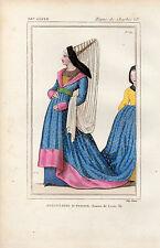 COSTUME DE LA FRANCE XVe siècle / Marguerite d'Ecosse, Femme de Louis XI
