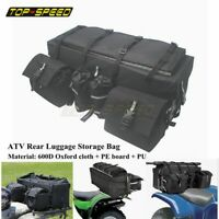 Black ATV Mountain Bike Rear Rack Soft-Luggage Storage Cargo Gear Pack Bag NEW