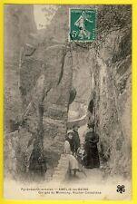 cpa 66 - AMÉLIE LES BAINS PALALDA Gorges de MONDONY ROCHER CASTELLANE animés