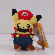 Pokemon Pikachu With Super Mario Hat Plush Toy Stuffed Figure Doll 5 inch US Sel