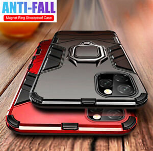 For iPhone 11 Pro Max X XS XR 8 Magnetic Ring Holder Cover Armor Shockproof Case