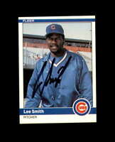 Lee Smith Hand Signed 1984 Fleer Chicago Cubs Autograph