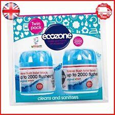 Écozone Forever chasse 2000 toilette Bloc Twin Pack Bleu nettoie et sanitizes Ne...