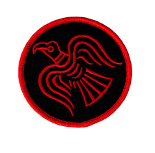 VIKING RAVEN EMBROIDERED PATCH - norse nordic heathen asatru pagan odin thor