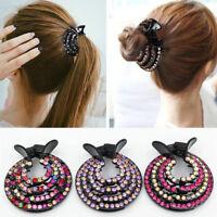 Women Girl's Bling Rhinestone Headband Hair Clip Elastic Hairband Hair Accessory