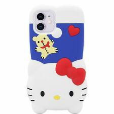 iPhone 11 Case Cute 3D Creative Fun Cartoon FullBody Shockproof Soft Hello Kitty