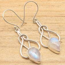 Free Shipping on Additional Items! Silver Plated Rainbow Moonstone Earrings NEW