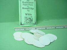 Dollhouse Miniature Round Edge Paper Plate Blanks White - 1/12th scale Dragonfly