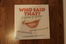 Who Said That Board Game Of Quotes Literature English Writing Family Party Fun