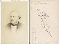 Jules Simon CDV vintage albumen.  Tirage albuminé  6,5x10,5  Circa 1870  <