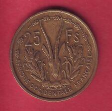 R* FRENCH WEST AFRICA 25 FRANCS 1956 VF+ DETAILS