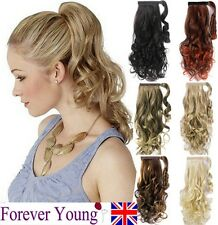 Ponytail Pony Tail Hair Extension Wavy Style Wrap On Hair Piece FOREVER YOUNG UK