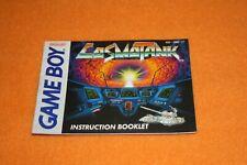 Cosmo Tank Anleitung Nintendo Gameboy Beschreibung Manual