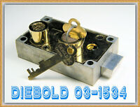 DIEBOLD 03-1534 SAFE DEPOSIT BOX LOCK with TWO FLAT KEYS - QUALITY DIEBOLD ITEM