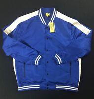 FIVE FOUR Blue Satin Front Jacket Poggy The Man Legion Men's Size XXL 2XL NWT