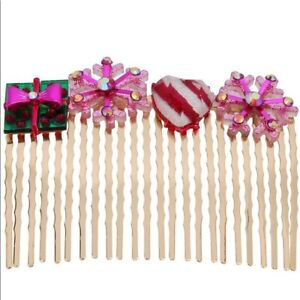 New Betsey Johnson Festive Christmas Hair Comb Clip
