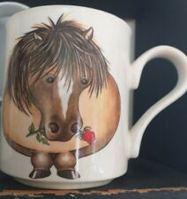 ARTHUR WOOD PONY HORSE DESIGN MUG BACK TO FRONT IMAGE EXCELLENT CONDITION