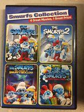 The Smurfs/The Smurfs 2/Smurfs: Legend of Smurfy Hollow/Smurfs Christmas Dvd New