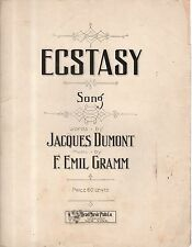 1910 Ecstasy by Jacques Dumont and F Emil Gramm