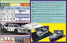 Nome Decal 1/43 LANCIA DELTA S4 MIKI BIASION TOUR DE CORSE 1986 (06)