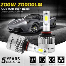 9005 HB3 6000K 200W 20000LM COB CREE LED High Beam Headlight Kit White Bulbs X2