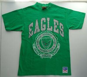 Nutmeg M Philadelphia Eagles NFL Member Club VTG Green Tee Shirt Single Stitch