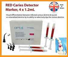 Dental Endodontic ENDO Supply, Red Caries Detector Detection System, 4 x 1.2mL