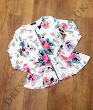 Unbranded Zip Blazer Floral Coats & Jackets for Women