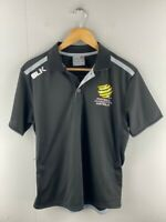 Hyundai A League Soccer Football Federation Australia Mens Black Polo Shirt Sz S