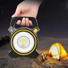 Compact Solar COB LED Work Spot Light USB Rechargeable Portable Lamp Hiking JWK