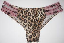a431558395 Victoria s Secret Pink Mini Logo Strappy Cheekster Panty Size S Leopard  Print
