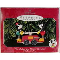 The Mickey and Minnie Handcar 1998 Mickey and Co. Hallmark Keepsake Ornament