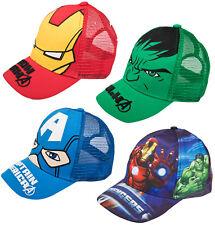 Boys Marvel Avengers Baseball Cap Novelty Character Peaked Summer Beach Hat