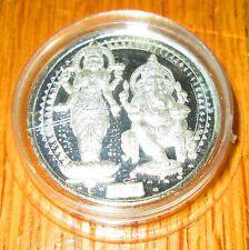 India Hindu God Diwali Saraswati Ganesha  20 Gram Silver Coin Praying  New Year