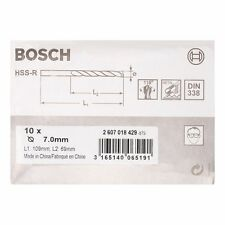 Bosch Metal drill bits HSS-R. DIN 338 7 x 69 x 109 mm 2607018429
