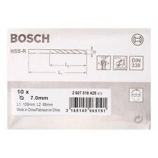 Bosch metal drill bits hss-r din 338 7 x 69 x 109 mm 2607018429