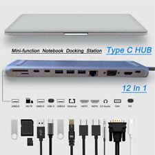 12 In 1 Type C Laptop Docking Station USB 3.0 PD VGA HDMI USB HUB For MacBook