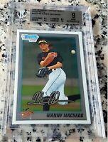 MANNY MACHADO 2010 Bowman CHROME #1 Draft Pick Rookie Card RC BGS 9 9.5 10 HOT $