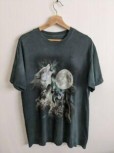 The Mountain   Howling Wolves Wolf Moon Tee Shirt T-Shirt   2007   Size M Medium