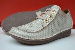 Clarks BNIB Ladies Lace-up Shoes FUNNY DREAM White Interest UK 5 / EU 38