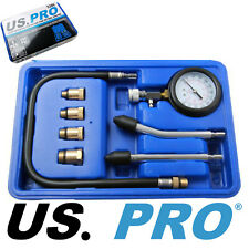US PRO PETROL ENGINE COMPRESSION TESTER KIT / CYLINDER LEAKAGE TEST TOOL 5386