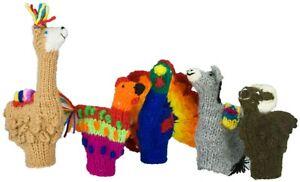 Machu Picchu Stars Handmade Finger Puppets – Set of 5 (Village Animals)