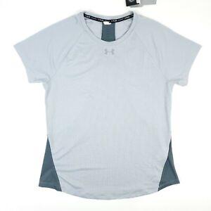 Under Armour Run Gray Active Work Out Short Sleeve T Shirt Women's Medium NWT