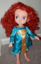 "Disney store Brave Toddler doll Princess Merida, 15"" inch tall smirk smile"